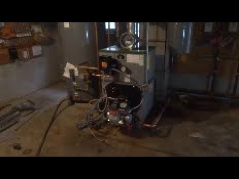 boiler and 2 oil tanks replaced part 1