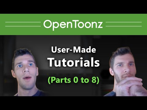 OpenToonz Tutorial Collection, Parts 00 to 08