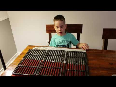 Learning with Noah- Cleaning porcelain grates pt. 2