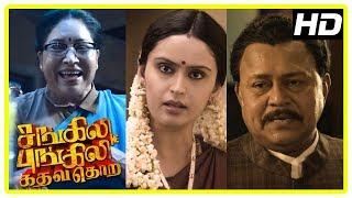 Sangili Bungili Kadhava Thorae Scenes | Kovai Sarala reveals Radha Ravi's past | Jiiva | Soori