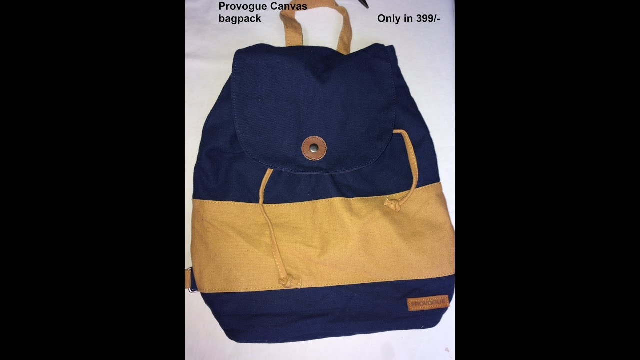 c383ec96537 Provogue Canvas Bag in ₹399 -   HDFC Net Banking Offer - YouTube
