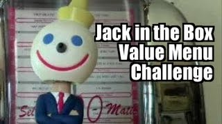 eating jack in the box value menu challenge 1 handed
