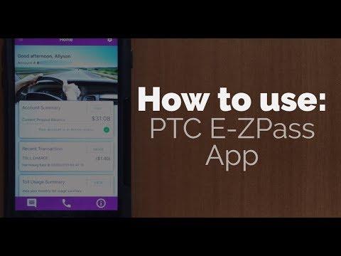Using The PTC E-ZPass App