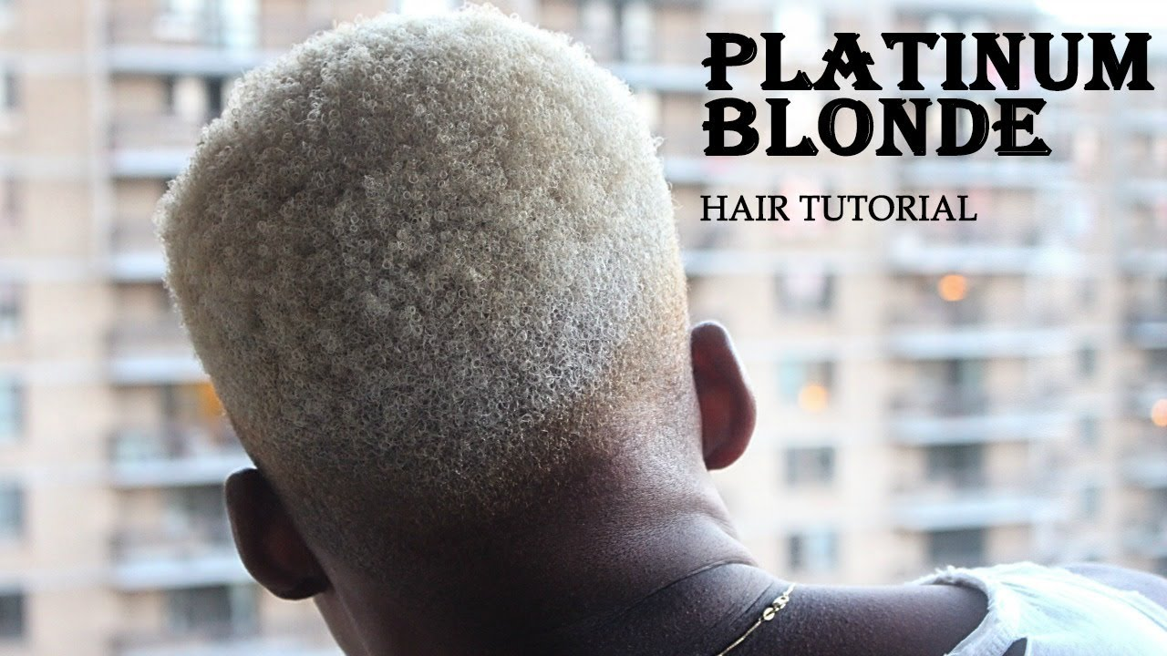 How To Black To Platinum Blonde Hair For Men Women Step By Step