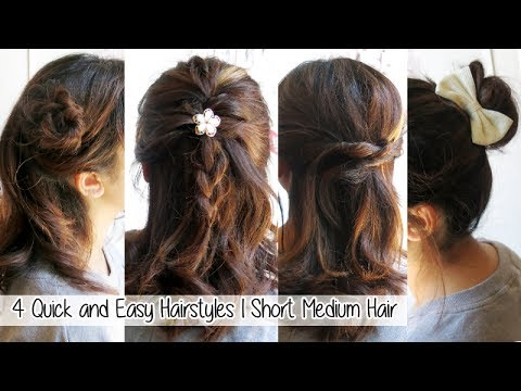 short hair style for dinner 4 amp easy hairstyles for medium hair l 2896 | hqdefault
