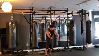 TRX workout focused on the chest.