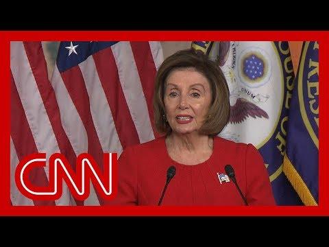 Nancy Pelosi argues Trump's actions constitute 'bribery' in Ukraine scandal