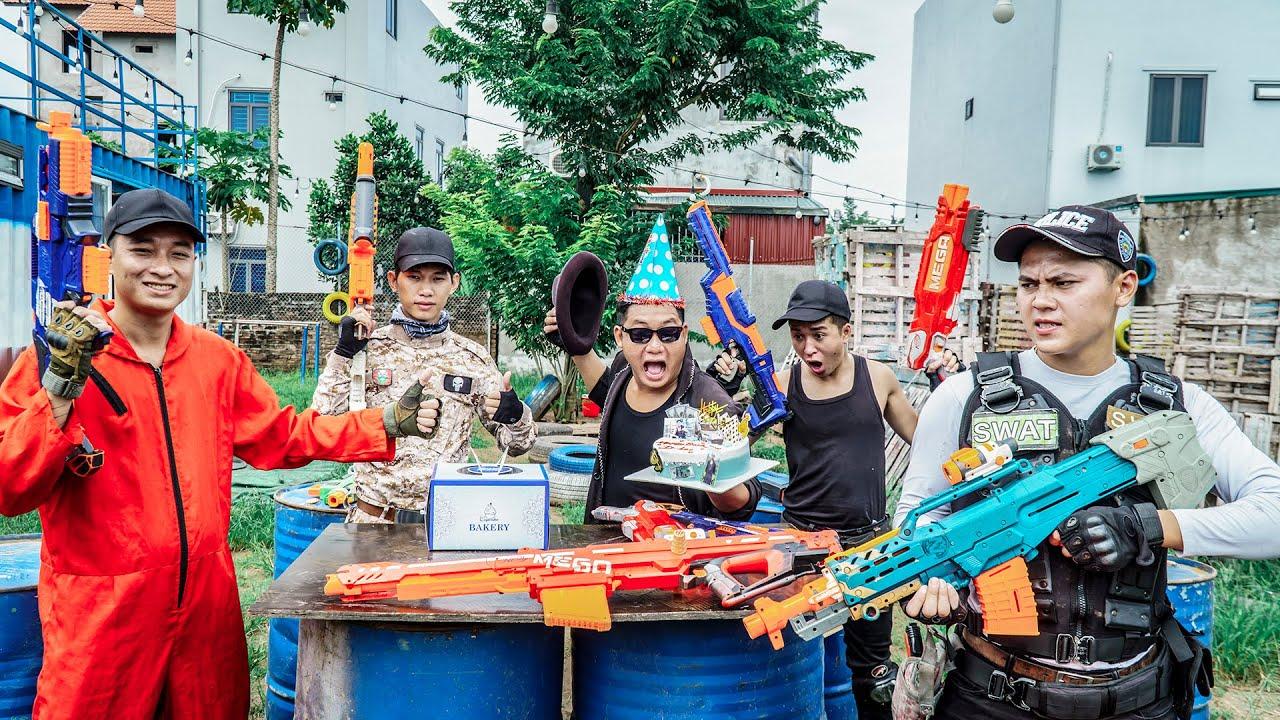 LTT Nerf War : SEAL X Warriors Nerf Guns Fight Dr Ken Crazy Fateful Day With Birthday Cake