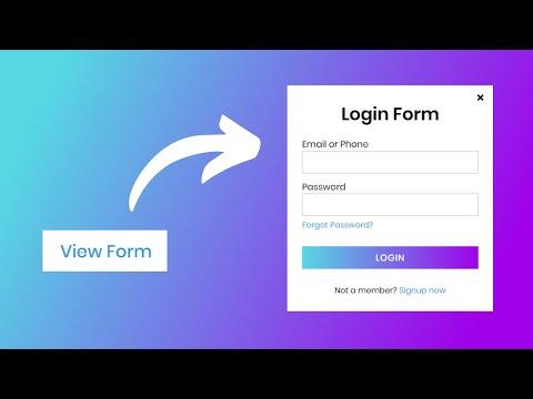 Popup Login Form Design In HTML & CSS   CodingNepal