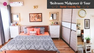 Bedroom Makeover & Decorating Ideas For Small Space (Renter Friendly Too) / Master Bedroom Tour