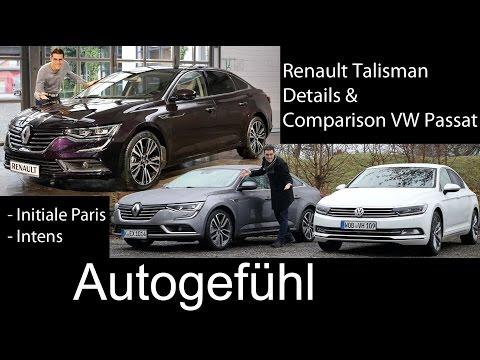 Renault Talisman FULL test drive REVIEW & Comparison VW Passat B8 2016 all-new neuer