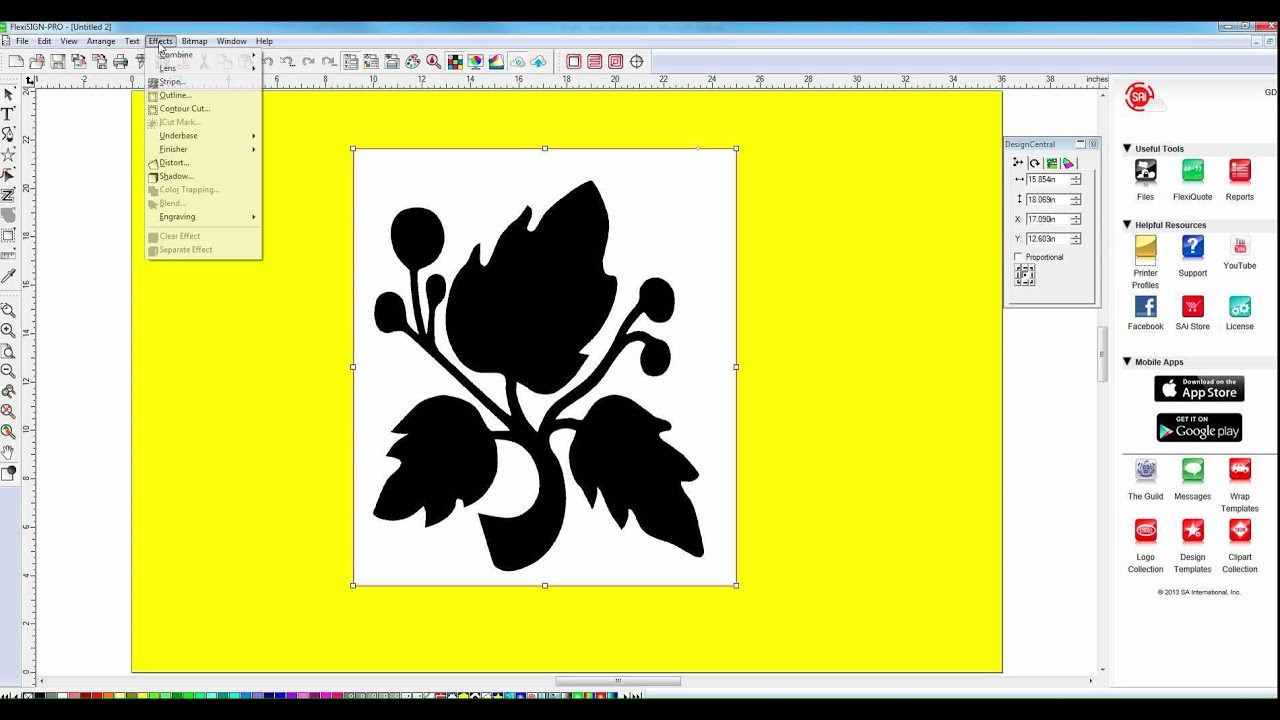 How To Contour Cut Bitmapped Image With Flexi Sign Pro Youtube