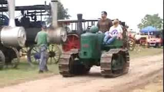 Antique Field Marshall Fowler crawler at Ohio Valley Antique Machinery Show