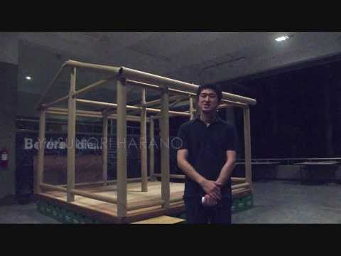 Shigeru Ban's Paper Tube Emergency Shelter - Time-lapse