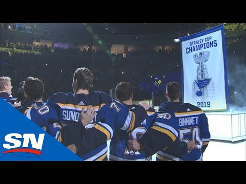 St. Louis Blues Raise First Ever Stanley Cup Banner