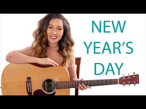New Year's Day - Taylor Swift Easy Guitar Tutorial with Play Along