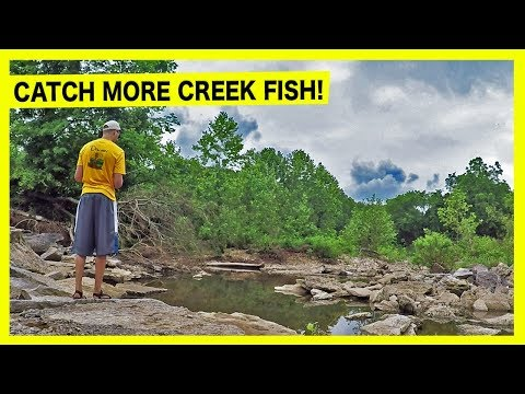 CREEK BASS FISHING - How To Find And Catch More Fish In Creeks!
