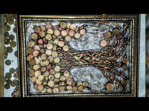 Денежное дерево из монет своими руками мастер класс