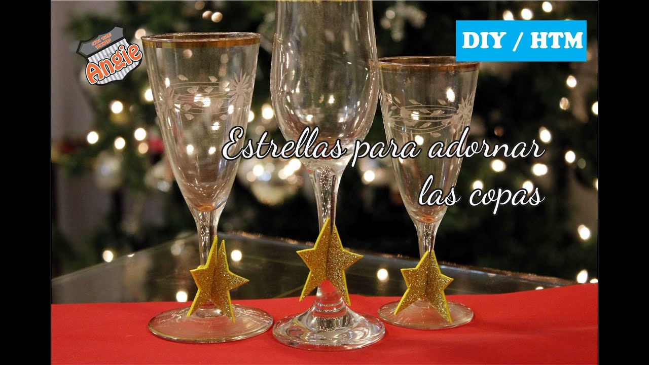 diy htm estrellas para las copas navide as youtube