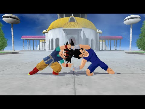 Fusion Goku Jr. And Vegeta Jr. into Gogeta Jr. DBZ Budokai Tenkaichi 3 Mod 【HD】