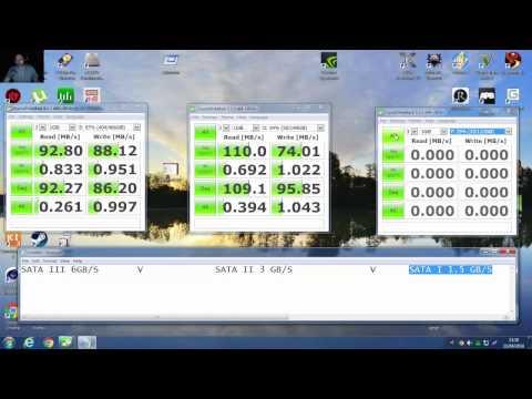 Testing difference in performance between SATA I SATA II SATA III on SATA III Motherboard