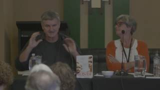 Richard Glover and Rosie Waterland in conversation at the 2016 Newcastle Writers Festival