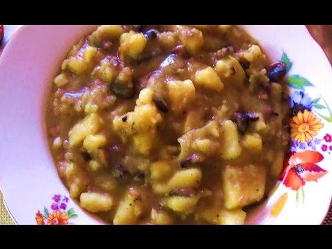 Картофель с грибами с мясом в мультиварке