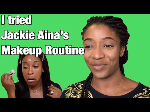 I tried Jackie Aina's Makeup Routine 😏 thumbnail