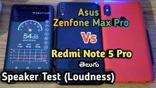 Asus Zenfone Max Pro Vs Redmi Note 5 Pro Speaker Loudness Test comp...