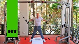 Entre las pesas y la parrilla: Putin y Medvédev se ejercitan en el gimnasio y comen asado