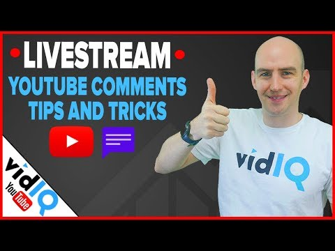🔴 vidIQ Livestream - How to Master YouTube Comments 🔴