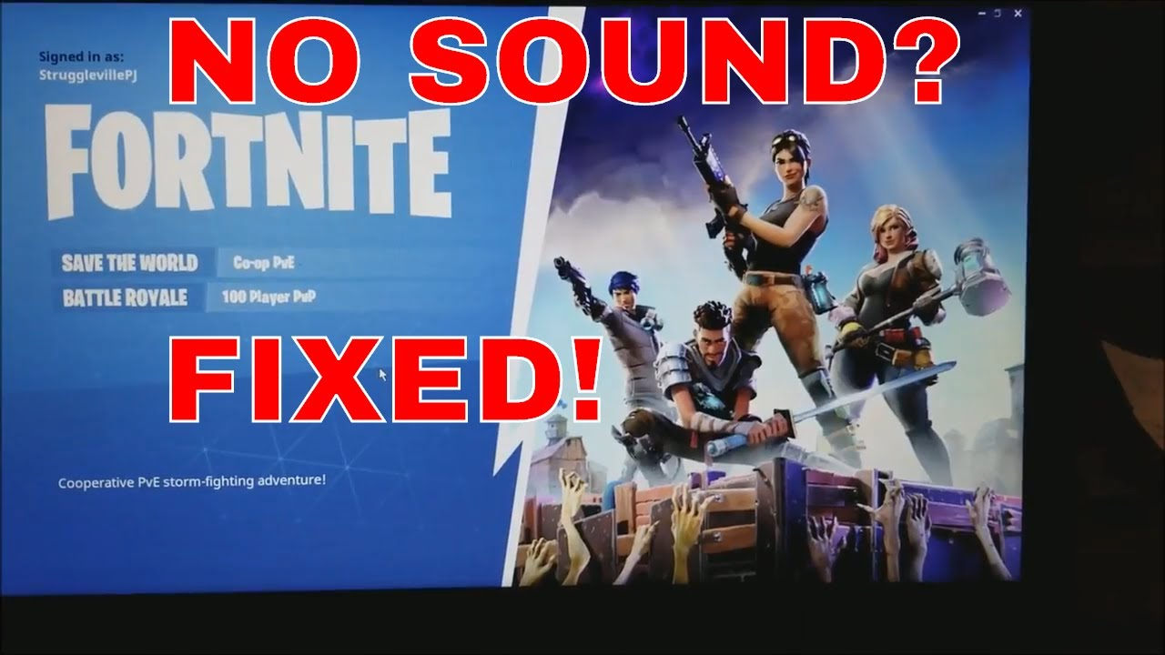 How To Fix Your Sound On Fortnite And Other Games Youtube