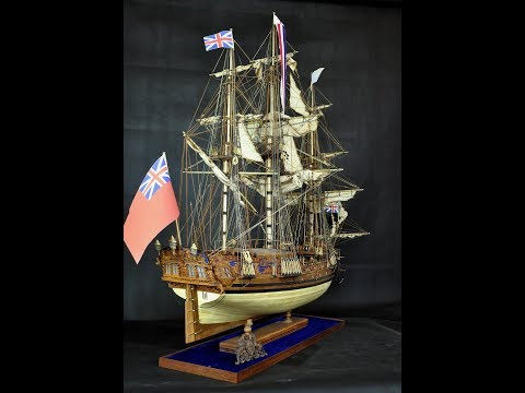 HMS Royal Caroline 1749 Wood Mdoel Ship Kits Boxwood Carvings
