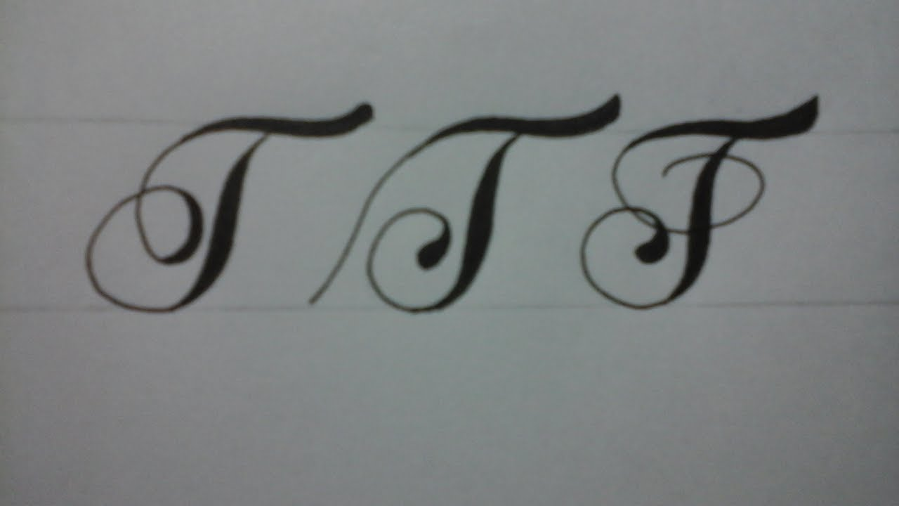 Calligraphy Letter T For Beginners With Normal Pen