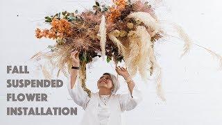 Suspended Flower Installation 2 (diy)