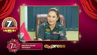 Gambar cover Express TV   7th Anniversary   Message from Hajira Khan