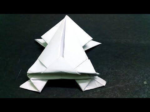 HOW TO MAKE PAPER FROG | Jumping frog | Easy steps to follow