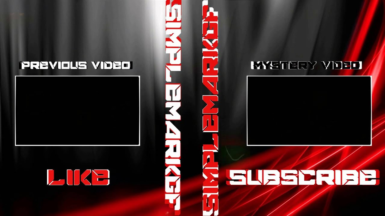 sony vegas pro free outro template black and red youtube