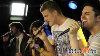 Pentatonix came by the studios at 104.3 MYfm to give a live perform...