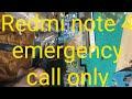 Redmi Note 4 Emergency Call Fix(No Service) Problem SOLUTION|Xiaomi Redmi Note4 No Service Emergency