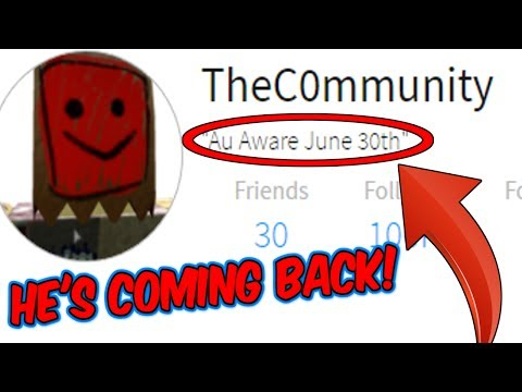 TheC0mmunity IS COMING BACK TO HACK ROBLOX!?!?! (Roblox Mysteries)
