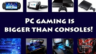 PC game sales passed console sales for the first time last year!