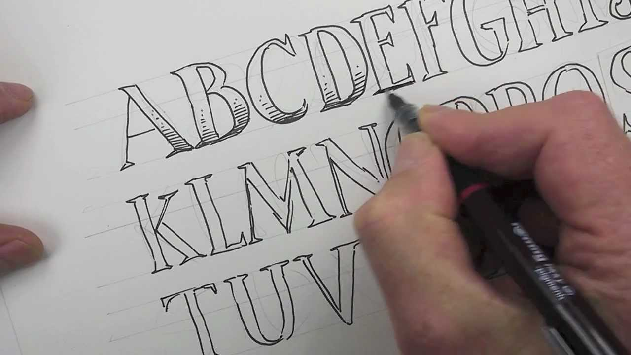 How to draw an alphabet of capital letters youtube how to draw an alphabet of capital letters thecheapjerseys Gallery