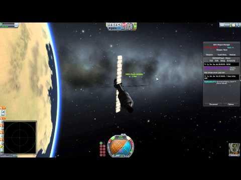 Kerbal space program (public multiplayer) episode 15 (War server) Satellite kill