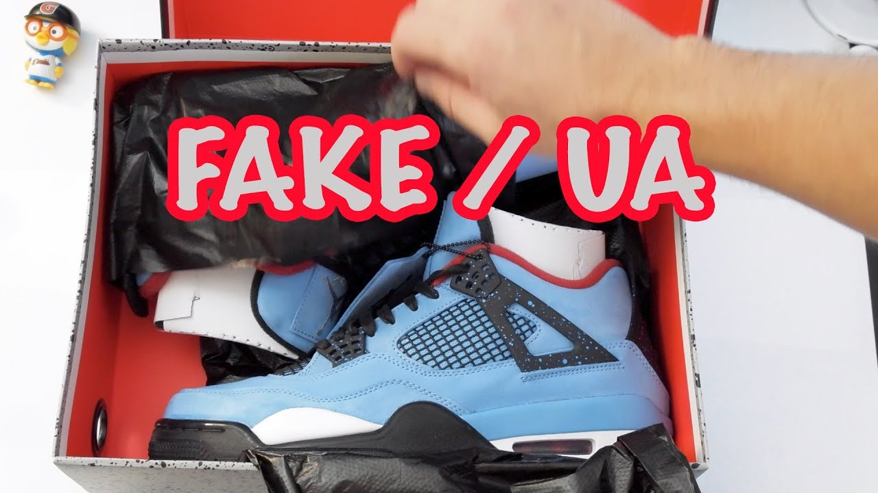 4b8f9c286ce Air Jordan Retro 4 Cactus Jack Travis Scott UA Best Fake Copy Shoe Review