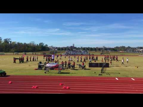 James M Bennett high school marching band senior game 2016-17