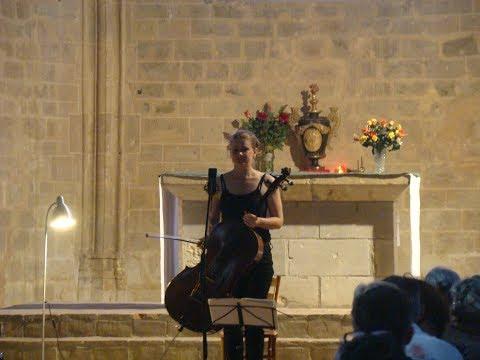 BACH FESTIVAL GERS : Violoncelliste tchèque Anna BRIKCIUSOVÁ à Beaumarchés ( Prélude, BWV 1008 )