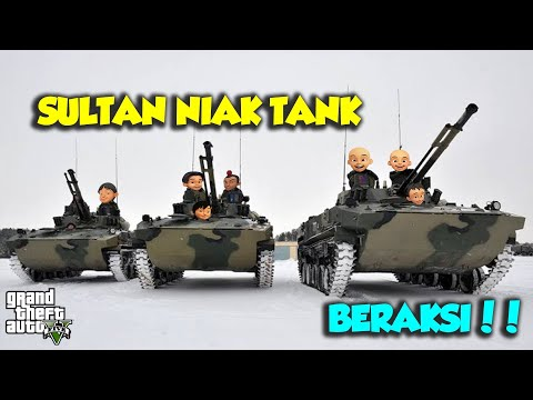 Sultan Upin Ipin Bertempur Menggunakan TANK Bersama Sama - GTA V Upin Ipin Episode Spesial 83