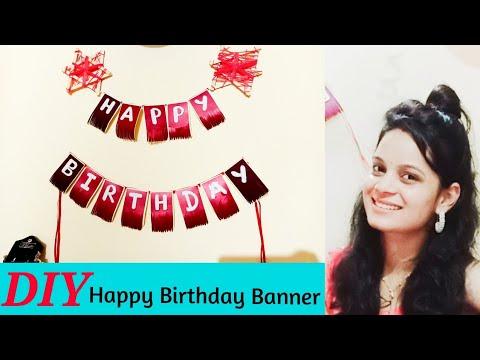 How to make happy birthday banner | DIY Happy birthday Banner | Banner Theme Idea