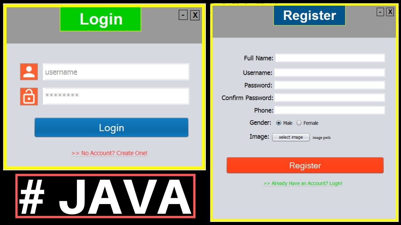 Java Project Tutorial - Make Login and Register Form Step by Step Using  NetBeans And MySQL Database